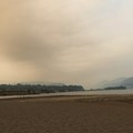 Smokey skies- The Spit + Hood River Event Site