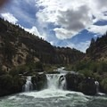 view from resting area .5 mile from trailhead- Steelhead Falls