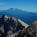Mt Adams view from the crater rim- Mount St. Helens Hike: Monitor Ridge Route