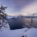 View from the rim as the sun sets.- Crater Lake National Park
