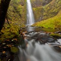 Lower section of Tunnel Falls in autumn- Eagle Creek Hike to Tunnel Falls