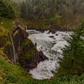 Seasonal falls after heavy rainfall- Hart's Cove