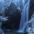 A late December snow storm- Henline Falls
