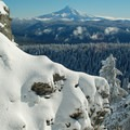 Sharrard Point covered in snow- Larch Mountain, Sherrard Point