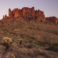 Classic American Southwest desert landscape- Lost Dutchman State Park Campground