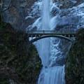 Crossing Benson bridge can be treacherous in these conditions- Multnomah Falls + Lodge