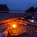 A perfect driftwood camp - and campfires are allowed!- La Push, Second Beach