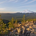 Not only is there a perfect view of Mt Hood from the top of TDH, but Mt Rainier and Mt St Helens can be seen in the distance on a clear day- Mirror Lake + Tom Dick and Harry Mountain