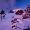 A break in the clouds just in time for some alpenglow- Mount Hood Wilderness