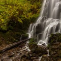 The bottom of Fairy Falls- Wahkeena Falls/Multnomah Falls Loop Hike