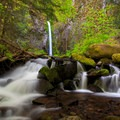 A small cascade below the falls- Dry Creek Falls Hike