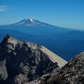 View of Mt Adams from the crater rim at the end of the Monitor Ridge Climb- Mount St. Helens National Volcanic Monument
