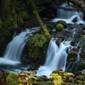 A cascade on Multnomah Creek- Columbia River Gorge National Scenic Area
