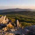 The rock outcroppings at Stony Man are an ideal viewpoint- Stony Man via Little Stony Man Trail