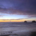 Afterglow sunset from Oceanside.- Oceanside + Three Arch Rocks National Wildlife Refuge