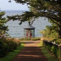 Approaching Cape Meares Lighthouse.- Cape Meares Lighthouse