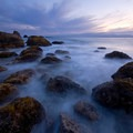 Indian Beach at twilight.- Ecola State Park