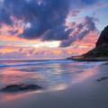 Beautiful sunset over Ulehawa Beach- Ulehawa Beach Park