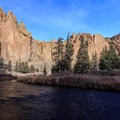 Morning Glory Wall above the Crooked River.- Smith Rock, River Trail Hike