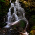 Horseshoe Creek Falls at lower late summer flow- Siouxon Creek Hike