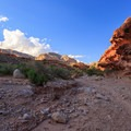 Morning light on the Hualapai Hilltop Trail- Havasu Falls Hike via Havasupai Trail