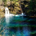 The blue pool- McKenzie River Trail: Trail Bridge to Tamolitch Pool