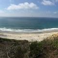 from the gliderport- Black's Beach via Gliderport Trail