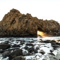 The photo famous Keyhole- Pfeiffer Beach