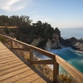 A night view of the boardwalk and falls- Julia Pfeiffer Burns State Park