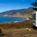 Our campsite (#21) at Kirk Creek.  Not a bad view!- Kirk Creek Campground