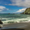 The beach is just a short walk from the campground and parking lot.- Limekiln State Park