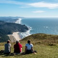 The meadow at the top just begs for hikers to relax and enjoy the view- Cascade Head