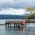 The fishing/crabbing platform at the Waldport piers- Alsea Bay Marina + Robinson Park