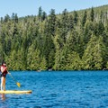 Paddleboarder on Lost Lake- Lost Lake Lakeshore Trail