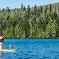 Paddleboarder on Lost Lake- Lost Lake Lakeshore Trail