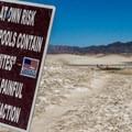 Mud mite warning sign might be worth - Tecopa Mud Baths