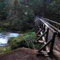 Bagby footbridge- Bagby Hot Springs