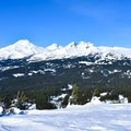 Looking north at the Sisters.- Tumalo Mountain Snowshoe