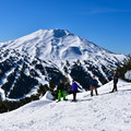 Mt Bachelor looking good in the sun.- Tumalo Mountain Snowshoe