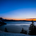 waiting on the sun to rise above the rim.- Crater Lake National Park