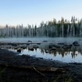Jack Lake in the early morning hours- Three Fingered Jack, Canyon Creek Meadows Hike
