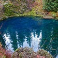 The iconic pure blue water, achieved as the water is filtered through the layers of basalt- McKenzie River Trail