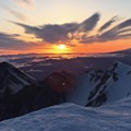 Beautiful color across the sky- Mount St. Helens Worm Flows Hike