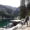 The beautiful aqua color of Nada Lake- Enchantment Lakes Hike via Snow Lakes