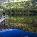 Fishing at Lower Snow Lake- Enchantment Lakes Hike via Snow Lakes