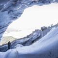 Ice above and below, Frozen Minotaur- Mount Hood, Sandy Glacier Ice Caves