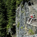 A view of the sheer face of the viewpoint overlook.- Salt Creek Falls