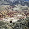 View from Carroll Rim Trail- Painted Hills Unit