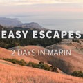 Views from Mount Tamalpais at sunset.- Easy Escapes: 2 Days in Marin