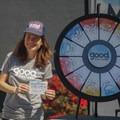 Good Culture handing out prizes at Outdoor Project's San Francisco Block Party. - 2017 San Francisco Block Party Recap